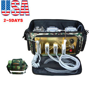 usa portable Dental Unit With Air Compressor Suction System 3 Way Syringe 410w