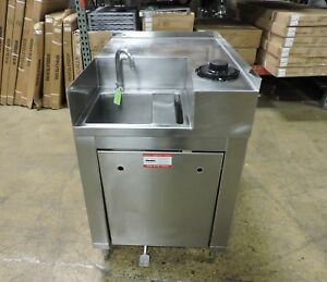Elkay S s p Commercial Stainless Steel Pedal Operated Hand Sink W Cup Holder