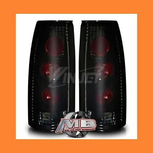 1999 2000 Cadillac Escalade Smoked Black Altezza Taillights Pair Replacement