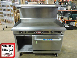 Imperial Ir g48 xb Commercial Gas 48 Thermostat Griddle W Oven