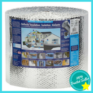 Reflective Bubble Insulation Reflectix 16 X 100 Double With Staple Tab