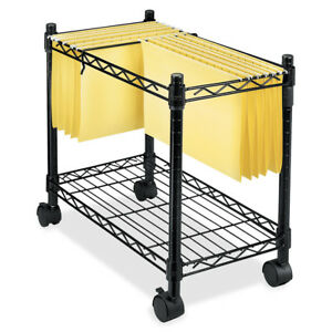 Mobile File Cart On Wheels Rolling With Storage Office Legal Size Hanging Folder