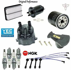 Tune Up Kit Filters Cap Rotor Spark Plugs Wire For Toyota Tacoma 2 4l 2 7l 95 97