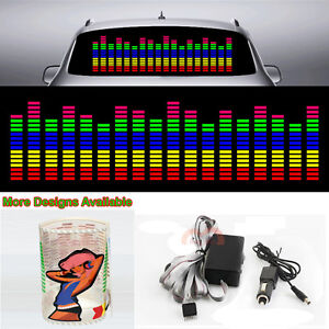 Colourful Music Rhythm Strips Flash Light Car Sticker Sound Activated Equalizer