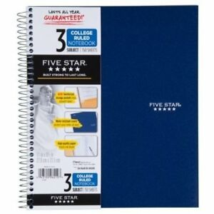 Mead Five Star Wirebound Notebooks Notebook 11x8 5 150sh Unv46413 pack Of10