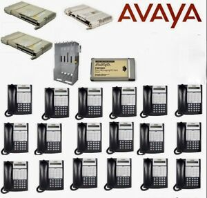 Avaya Partner Phone System 18d With 15 Handsets voice Mail Remote Access Cards