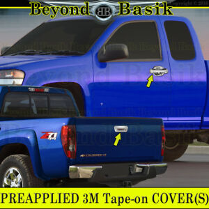 2004 2012 Chevy Colorado Canyon Chrome Door Handle Covers Nopsgkeyhole Tailgate