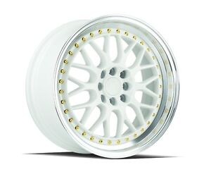 Aodhan Ah02 17x8 4x100 114 3 Et35 73 1 White With Machined Lip set Of 4