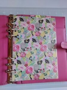 Filofax A5 Classic Hot Pink Leather Planner Organizer