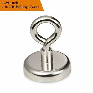 Wukong 148lbs Pulling Force Super Powerful Round Neodymium Magnet With Eyebolt