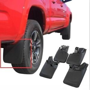 Molded Splash Guards Mud Flaps front Rear 4pcs For 2016 2017 Toyota Tacoma