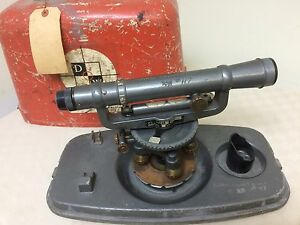 Vintage David White Model 8114 Universal Transit Survey Equipment With Case