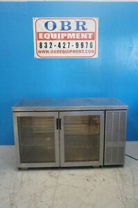 Perlick 60 2 Section Self Contained Back Bar Cooler With Glass Doors Model Bs60
