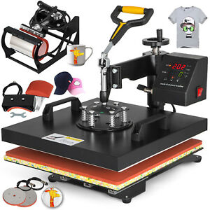 15 x15 5in1 T shirt Heat Press Machine Transfer Baseball Hat Cap Swing Away