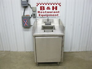 25 Stainless Steel Heavy Duty Hand Sink Wash Station 1 Door Cabinet 2 1