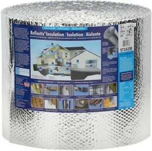 Insulation Roll Bubble Foil Reflective Double Radiant House Building 16 X 100ft