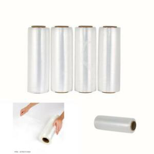 4 Plastic Shrink Hand Stretch Wrap Roll 15 X 1475 30 Gauge Film Clear Packing