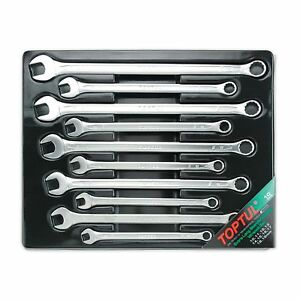 Toptul 10 Piece 15 Offset Extra Long Combination Wrench Set 10 19mm