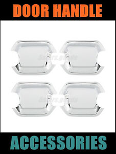 4p Chrome Side Door Handle Bowl Covers Trim For 2001 2006 Mitsubishi Montero Suv