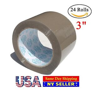 3 Inch Packing Tape Tan 110 Yards 24 Roll Carton Sealing Heavy Duty Tape Brown