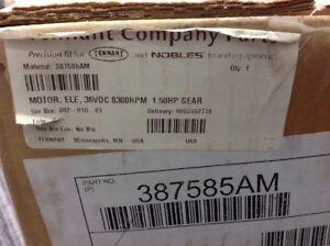 Tennant 387585am Electric Motor 36vdc 0300rpm 1 50hp Gear oem new In Box