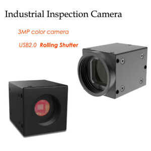 Sdk Usb2 0 Industrial Camera Rolling Shutter 3mp Color Inspection Camera 1 2