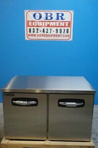 New Master bilt Undercounter Stainless Steel 48 Two Door Worktop Freezer Model
