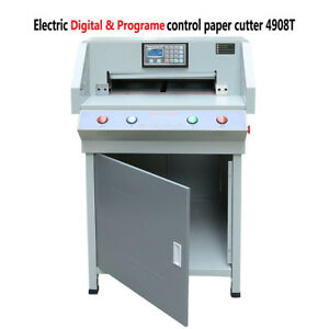 Upgraded 490mm 19 3 Programable Electric Paper Cutter Cutting Machine 4908t