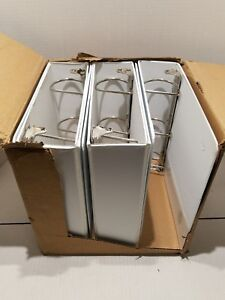 Business Source D ring Binder W Pockets 3 Capacity White 28443 Lot Of 5