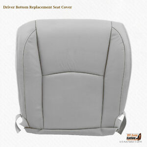 Driver Bottom Gray Leather Seat Cover For 2005 2006 Lexus Rx330 Rx350 Rx400