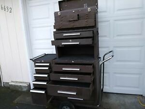Kennedy Complete 5 Piece Machinist Tool Chest Including Versa Cart