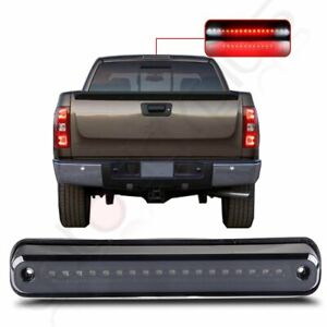For 1988 1998 Chevy Gmc C1500 K1500 Black Led Third 3rd Brake Cargo Light Lamp