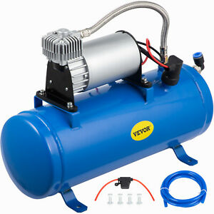 Air Compressor With 6 Liter Tank 120 Psi Dc 12v Train Horns Truck Rv 1 6 Gallons