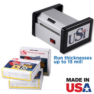 Usi Hd 400 4 Pouch Laminator Kit Laminator Boxes Of Various Id Size Pouches
