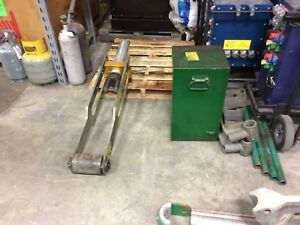 Greenlee 881 Conduit Bender 960 Hydraulic Pump 1813 Table
