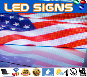 Wireless Led Sign Full Color 63 x63 Programmable Scrolling Outdoor Sign Florida