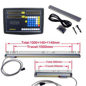 2 Axis Digital Readout Dro For Milling Lathe Machine 2 Linear Scales Meter Fs
