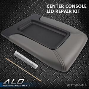 Center Console Lid Kit Arm Rest Latch For 99 07 Gm Chevy Oem Part 19127364 Gray