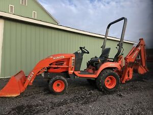 Kubota Bx24 Hst 4x4 Diesel Tractor Loader Backhoe Tlb Low Cost Shipping