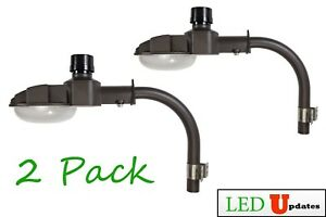 2 Pack Ledupdates Outdoor Led Barn Light 70w Extension Pole Arm 5000k Ul