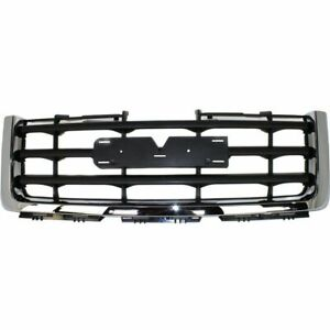 Am New Front Grille Chrome Surround W Black Insert For 07 13 Gmc Sierra 1500