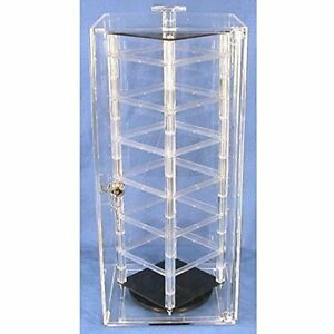 Beading Jewelry Making Locking Revolving Rotating Earrings Display Case Stand