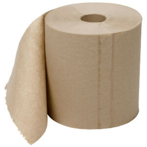 12 Case 8 Heavy Duty Natural Brown Towel Paper Commercial Dispenser Roll 800