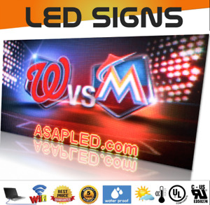Wireless Indoor outdoor Full Color P10 Video Programmable Led Sign 57 x63 Usa