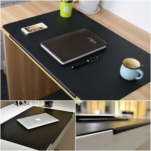 Desk Pad Leather Artificial Laptop Mat Large Black Office Home Organizer Protect