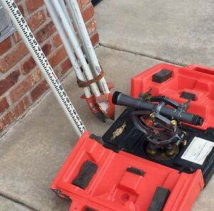 Vintage David White Model 8300 Transit Survey Equipment With Tripod