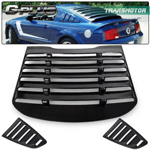 For 15 17 Ford Mustang Gt V6 Rear Window Quarter 1 4 Window Louver Scoop Cover