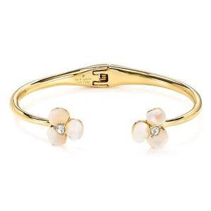 New Kate Spade New York Womens Mother of pearl Floral Cuff