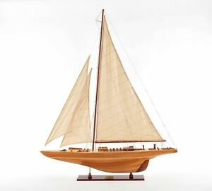 America S Cup 1933 Endeavour J Class Boat 40 Built Wood Model Yacht Assembled