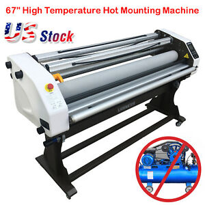 Upgraded 67 Inch Full auto Take Up Large Hot cold Laminator Machine Wide Format